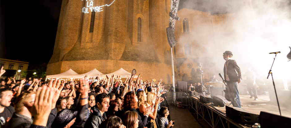 Nuit Pastel 2016 - au pied de la Cathédrale d'Albi