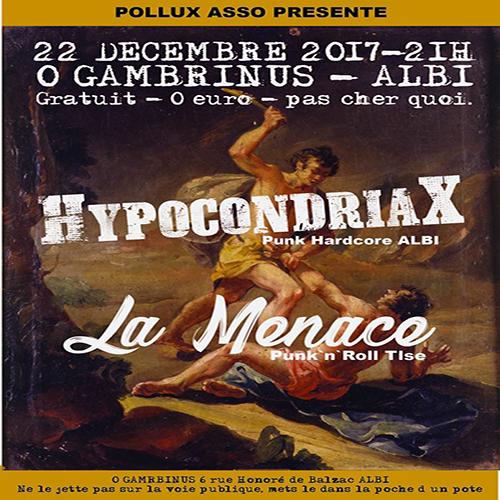 Punk X-Mas Party / Hypocondriax + La Menace