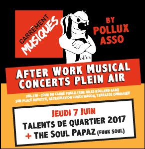 Carrément musisques #2 : The Soul Papaz + Talents de quartier 2017