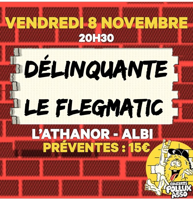 Soirée chanson française : Délinquante + Le Flegmatic